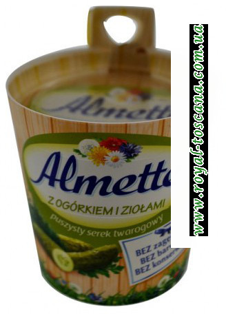 Сыр Almette z Ogorkiem i Ziolami