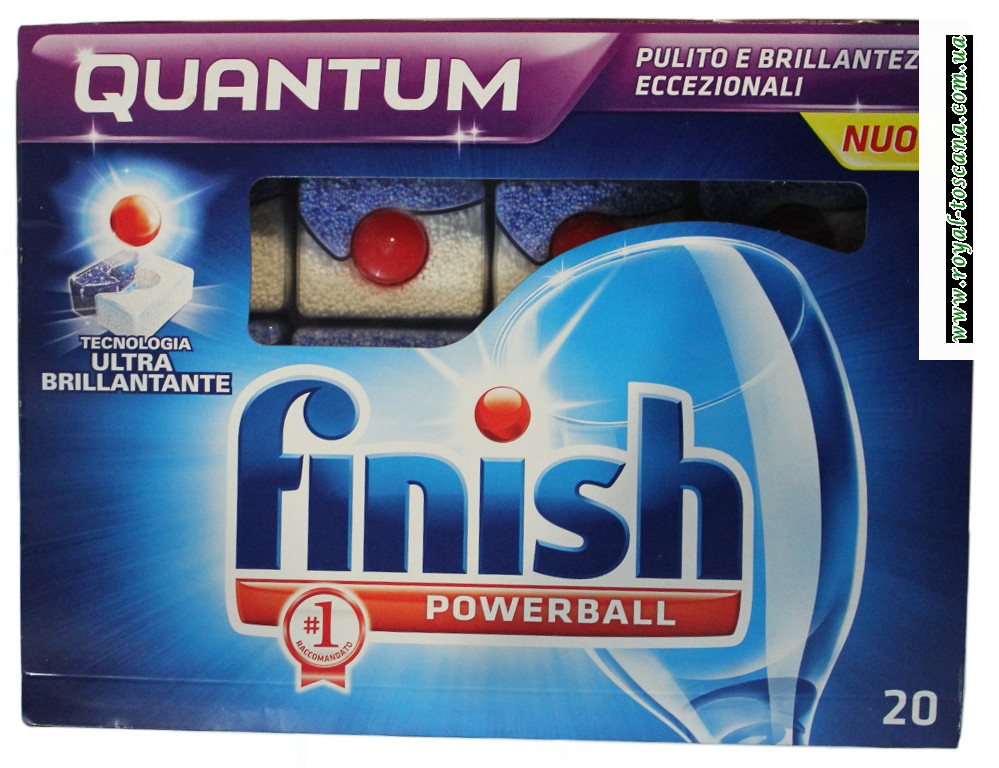 Моющее средство в капсулах Finish Quantum Powerball