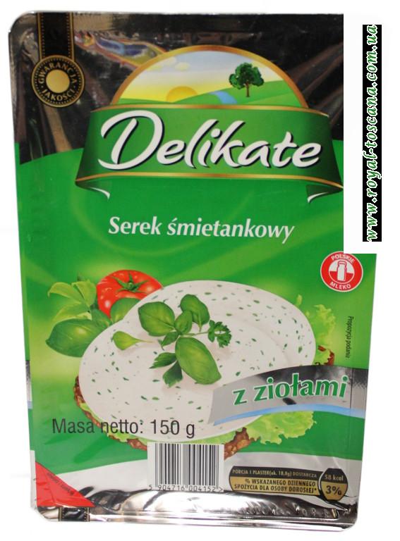 Сыр Delikate Serek Smietankowy с томатами