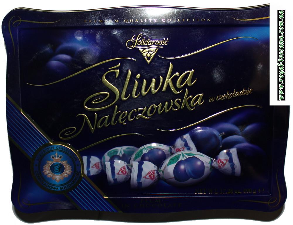 Конфеты Jalidarnosc Sliwka Nareczowska w czekoladzie