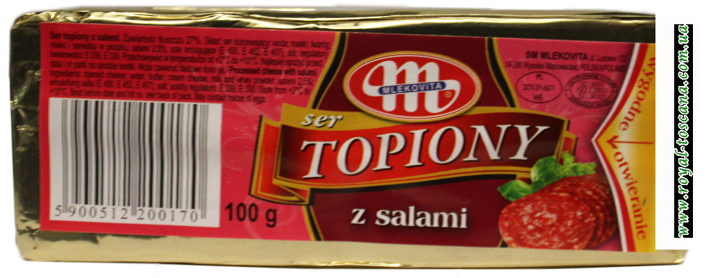 Сыр Mlekovita Ser Topiony z Salami