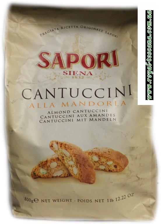 Печенье с миндалём Sapori Cantuccini alla Mandorla