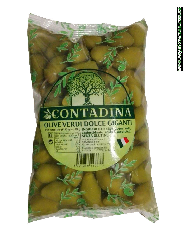 Оливки зеленые с косточкой Vesu Vio Olive Verdi Giganti La Bella di Cerignola