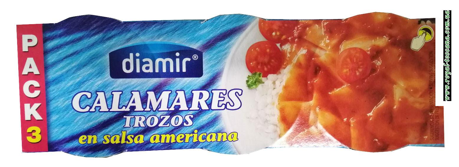 Кальмар в соусе Американа Diamir Calamares trozos en salsa americana 3х80г