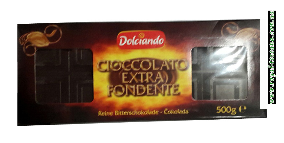 Экстра черный шоколад Dolciando Cioccolato Extra Fondente
