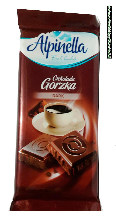 Шоколад черный Alpinella Czekolada Gorzka