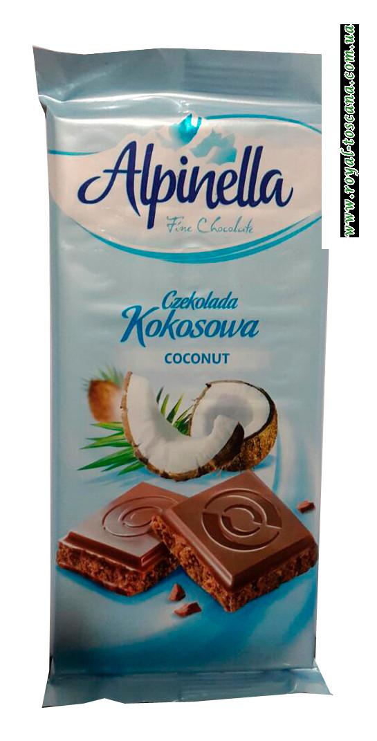 Шоколад с кокосовой стружкой Alpinella Сoconut