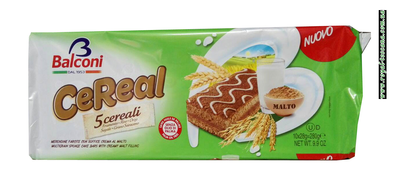 Бисквит шоколадный Balconi CeReal
