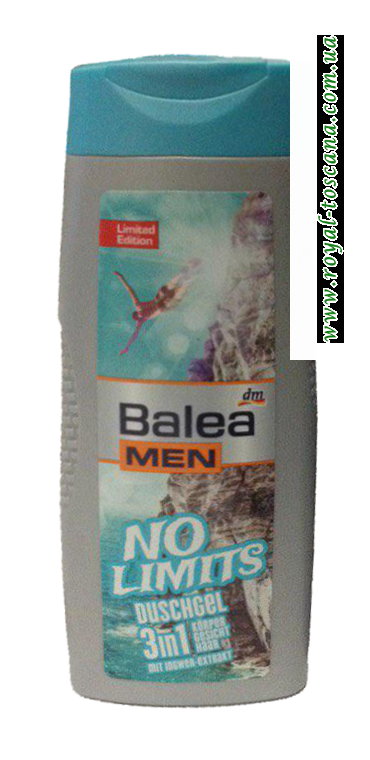 Гель для душа Balea Men Duschgel No Limits 3in1
