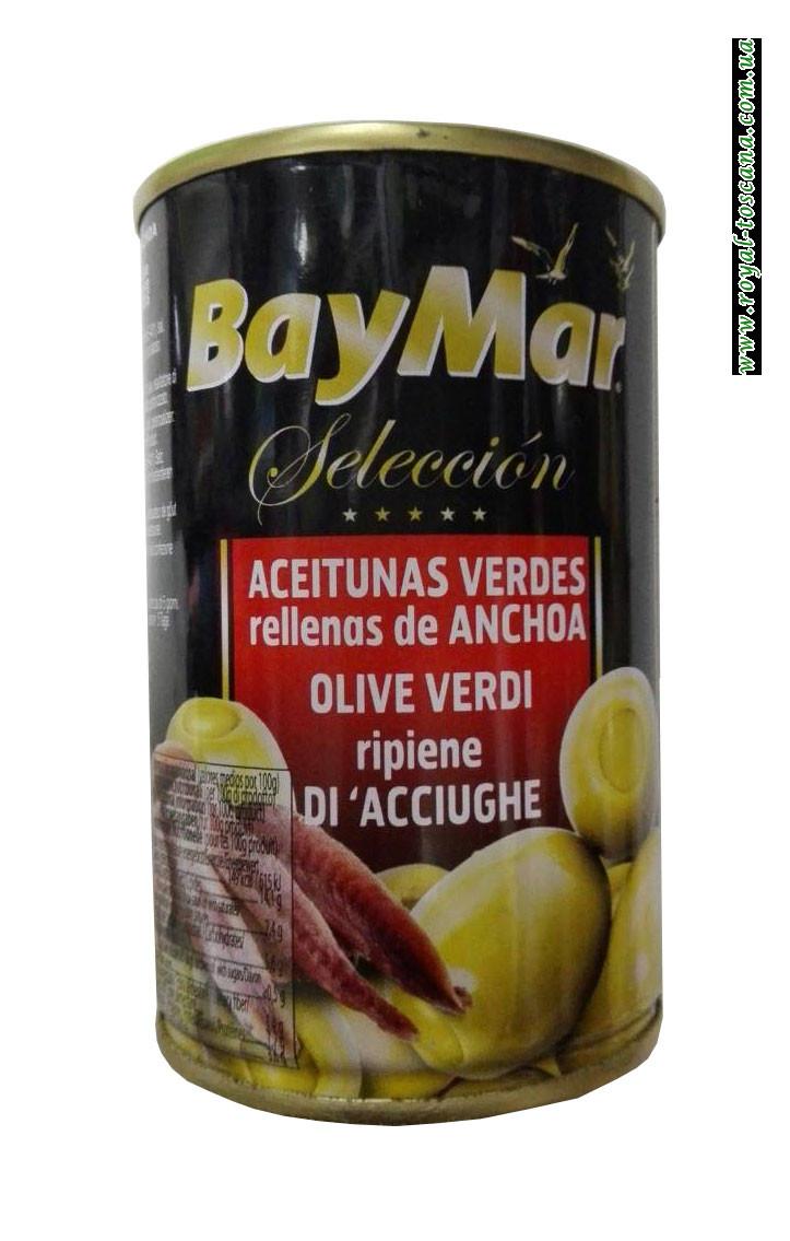 Оливки зеленые фаршированные анчоусами Bay Mar Seleccion