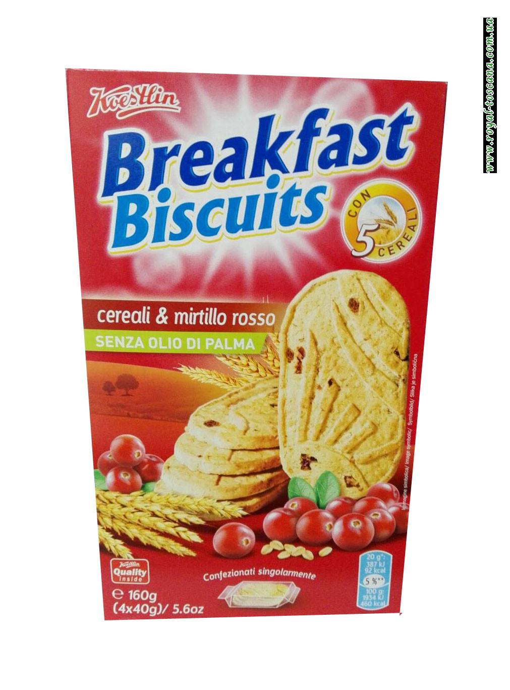 Печенье Breakfast Biscuits Cereali & Mirtillo Rosso