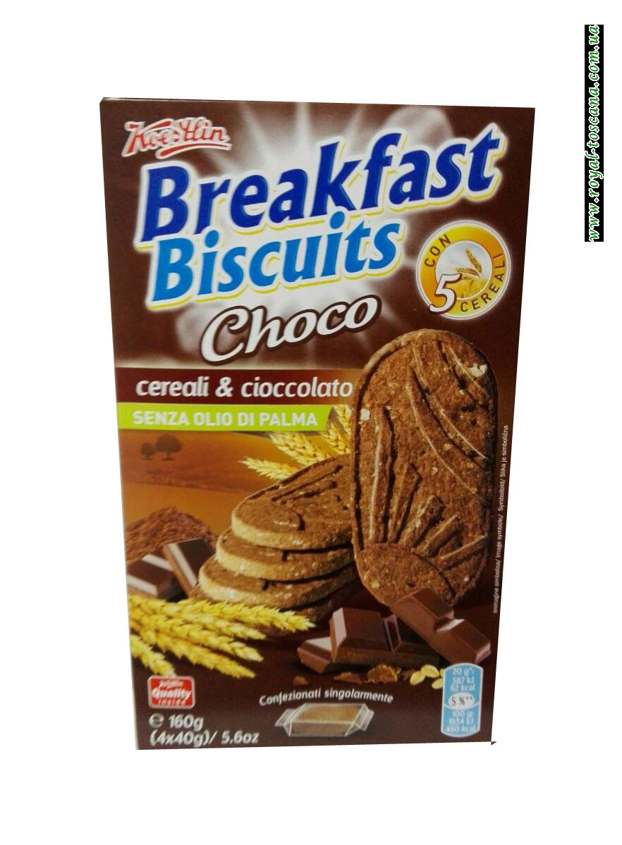 Печенье Breakfast Biscuits Cereali & Choco