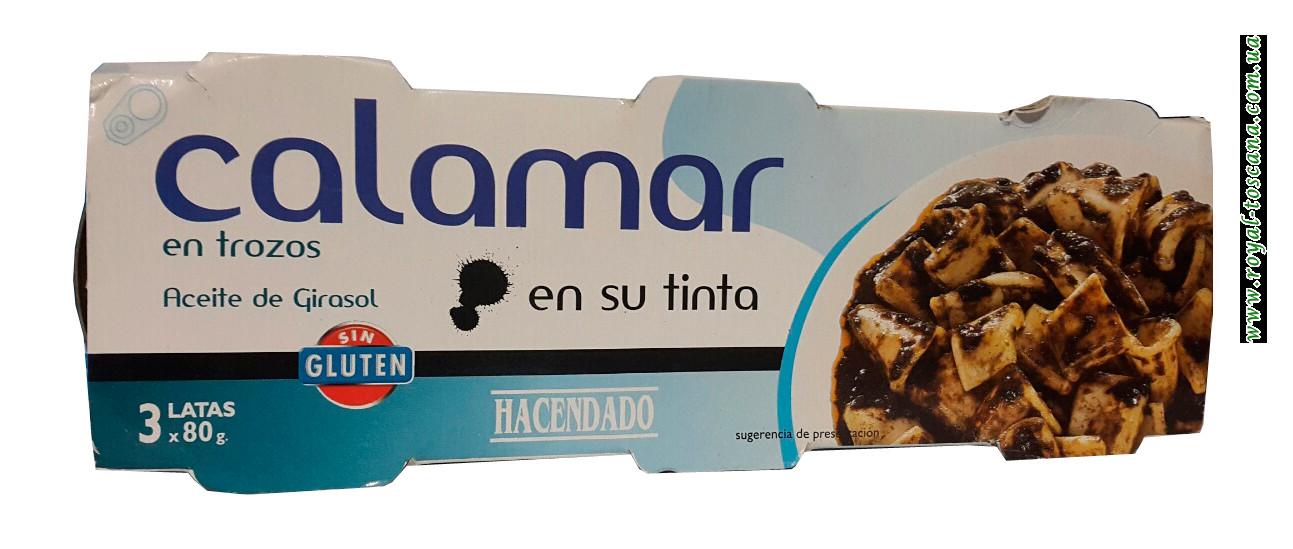 Кальмар в собственных чернилах Hacendado Calamar en su Tinta