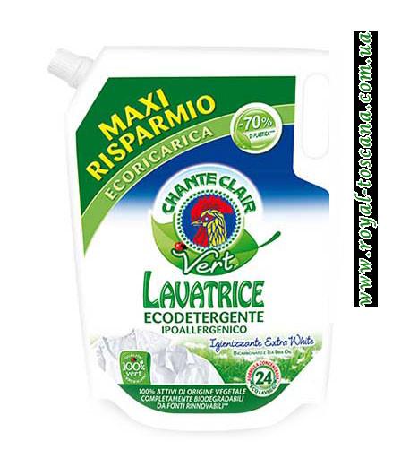 Гель для стирки белых вещей ChanteClair Lavatrice Ecodetergente, запаска, 24 стирки