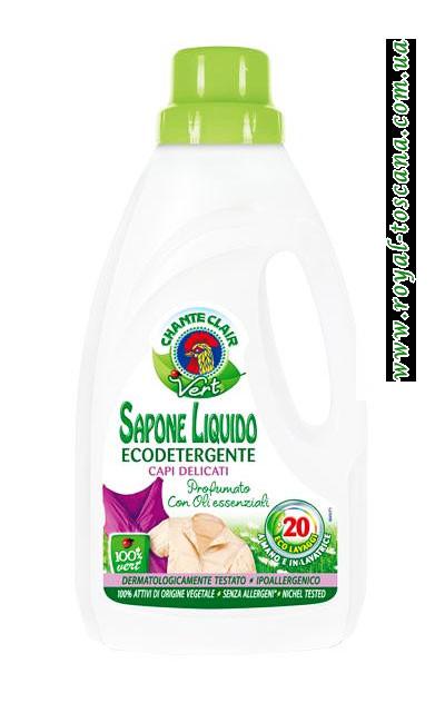 Гель для стирки белых вещей ChanteClair Sapone Liquido Ecodetergente, 20 стирок