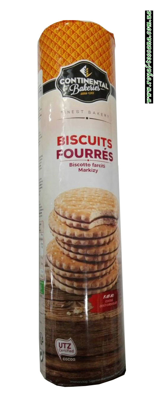 Печенье с шоколадной начинкой Continental Bakeries Biscuits Fourres
