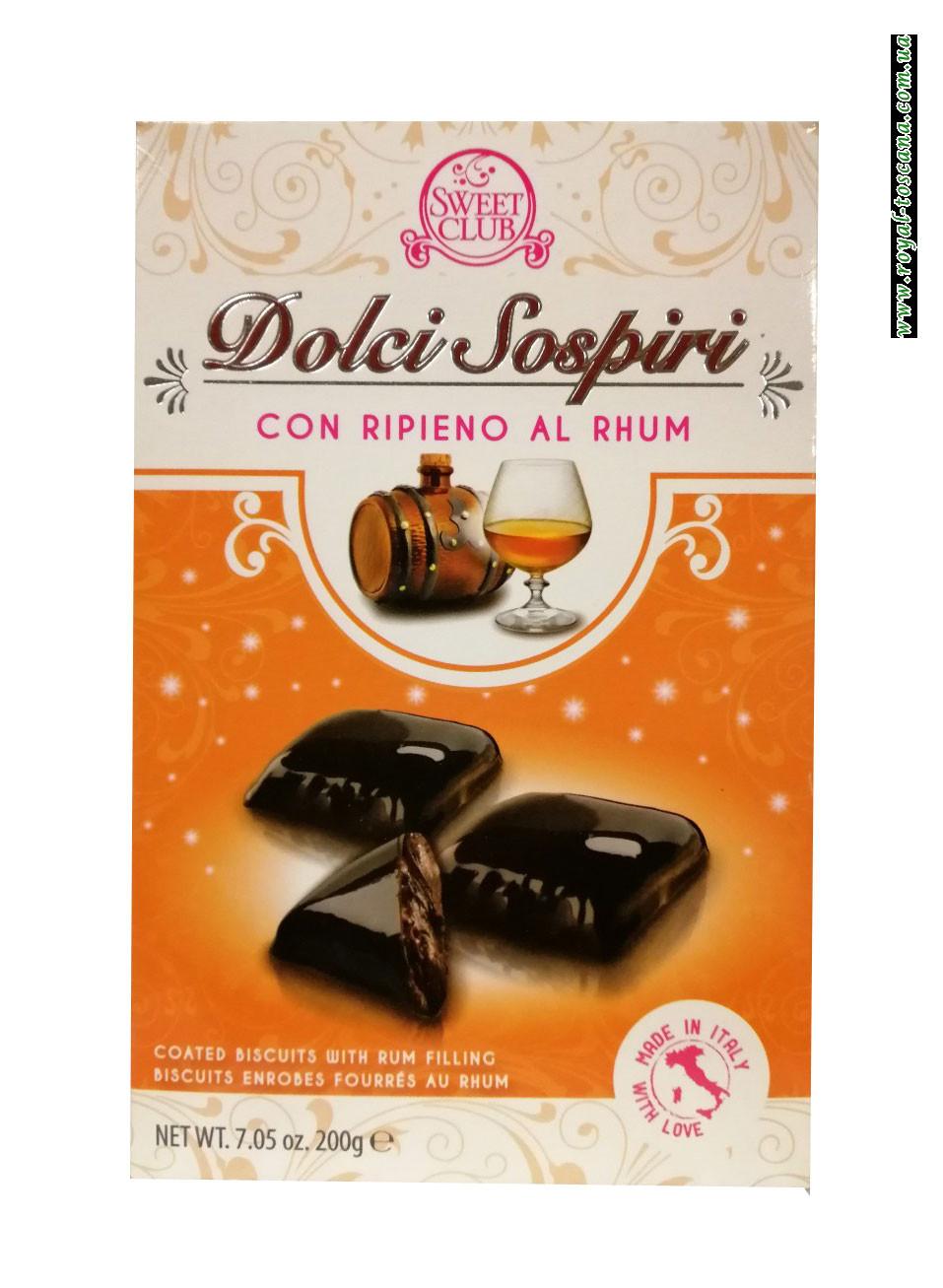 Шоколадное пирожное с ромом Dolci Sospiri con Ripieno al Rhum