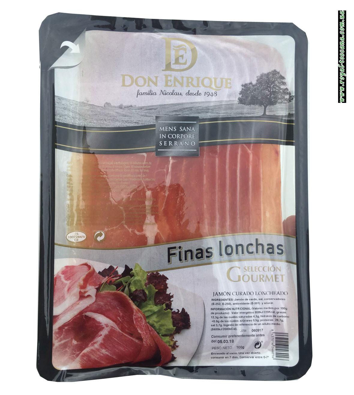 Хамон Don Enrique Finas Lonnchas