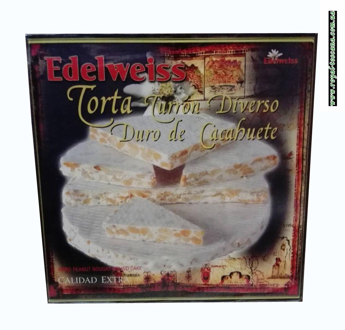 Торт турон Edelweiss Torta Torron Diverso Duro de Cacabuete