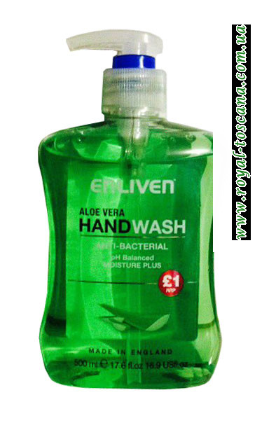 Жидкое мыло для рук с Алое Вера, антибактериальное Enliven Anti-Bacterial Hand Wash Aloe Vera