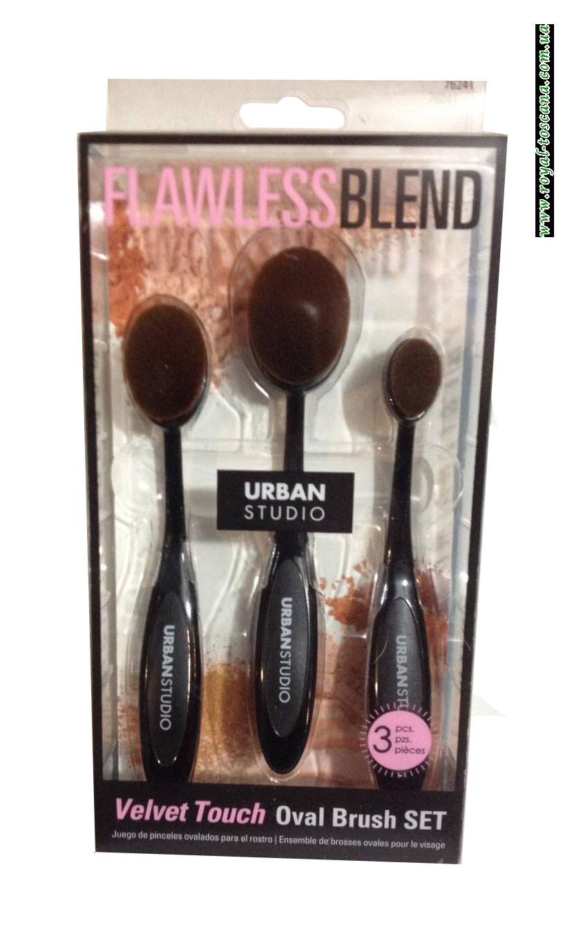Овальные кисти для макияжа Urban Studio Flawless Blend Velvet Touch Oval Brush SET