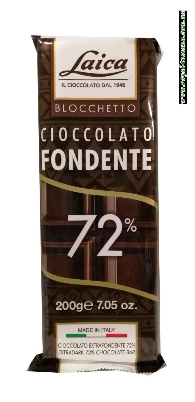 Шоколад черный Laica Cioccolato Fondente 72%