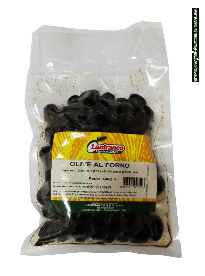 Оливки черные Lanfranco Olive al Forno