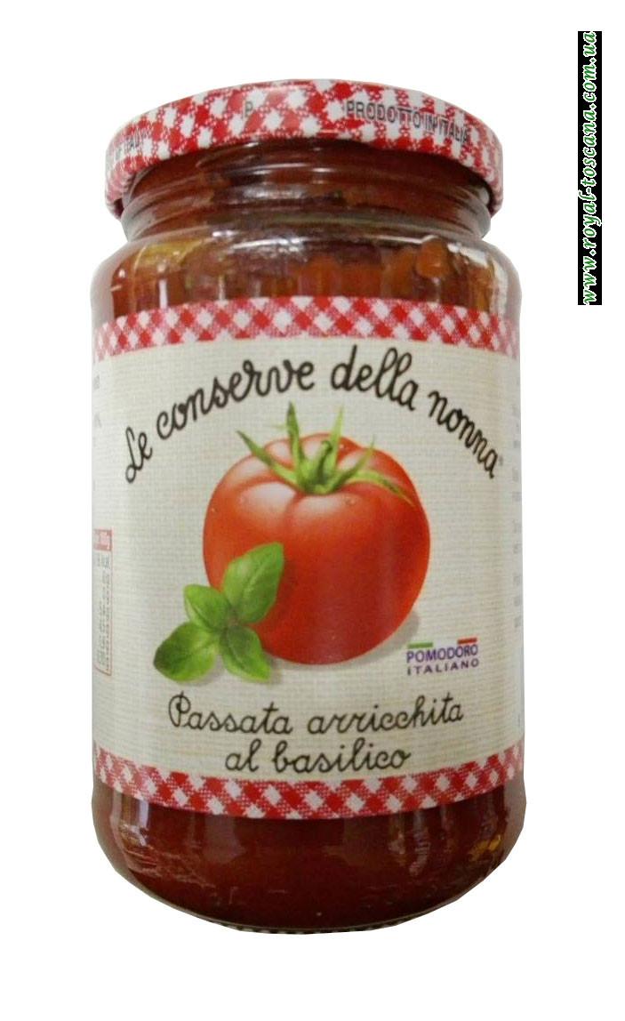 Соус томатный с базиликом Le Conserwe Della Nonna Passata Arricchita al Basilico
