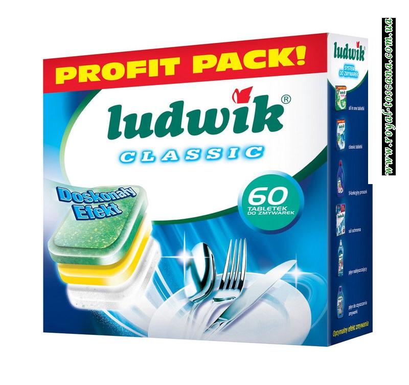 Таблетки для посудомоечных машин Ludwik Classic Profit Pack, 60 шт