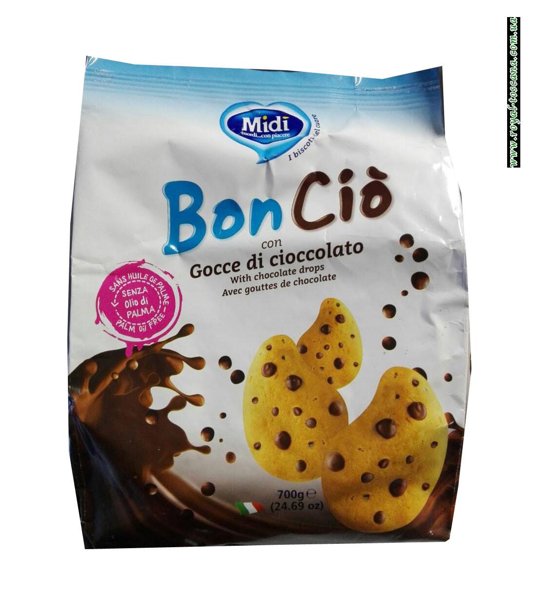 Печенье Midi Bon Cio con Gocce di Cioccolato