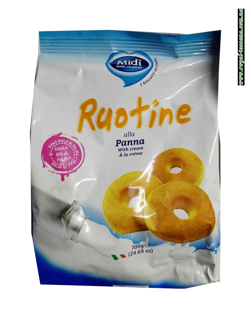 Печенье Midi Ruotine alla Panna