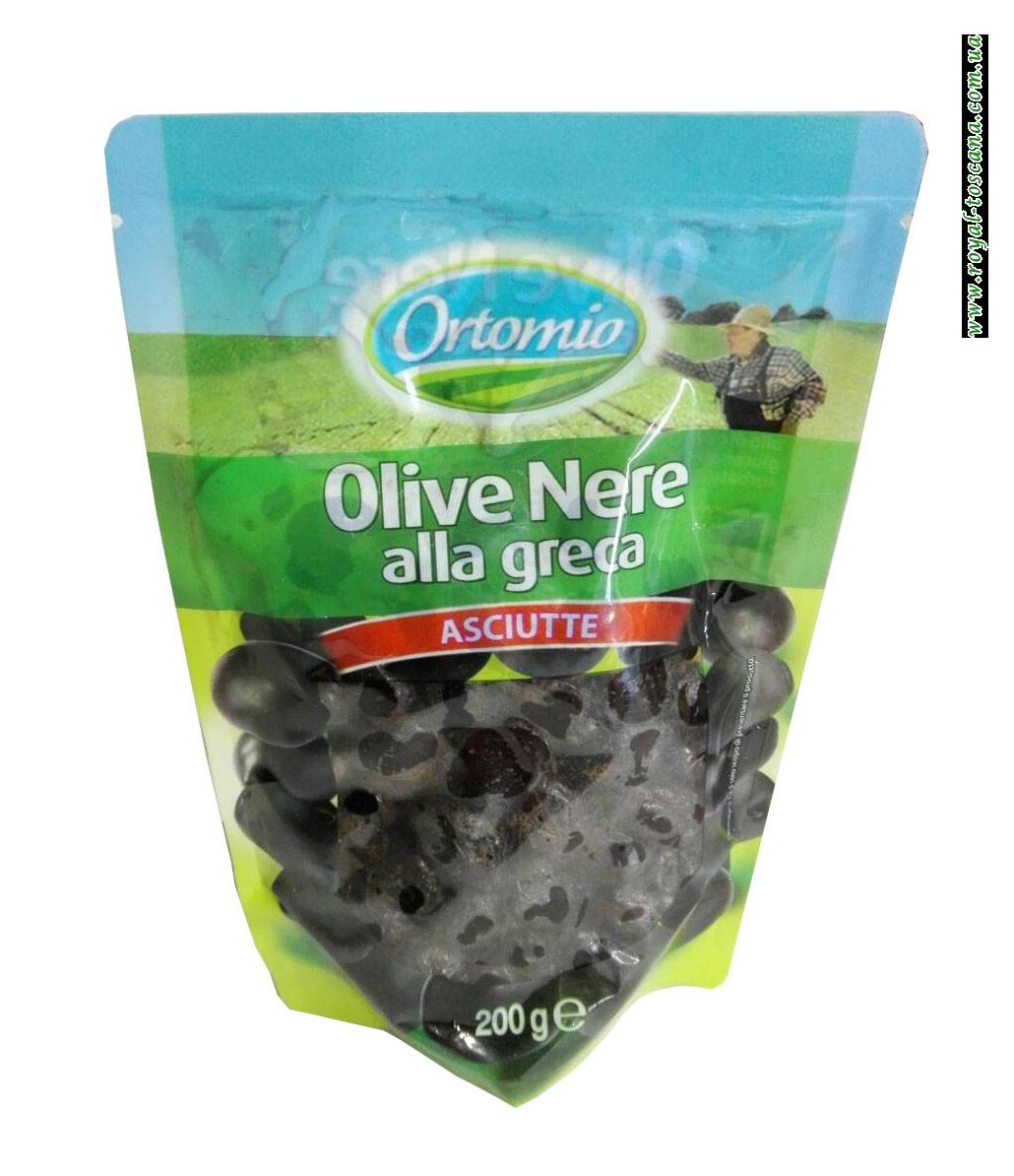 Вяленые черные оливки Ortomio