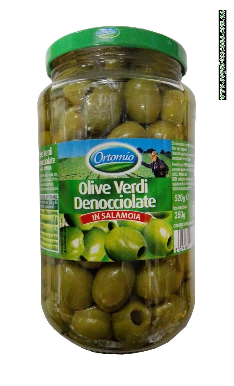 Оливки зеленые Ortomio Olive Verdi Denocciolate