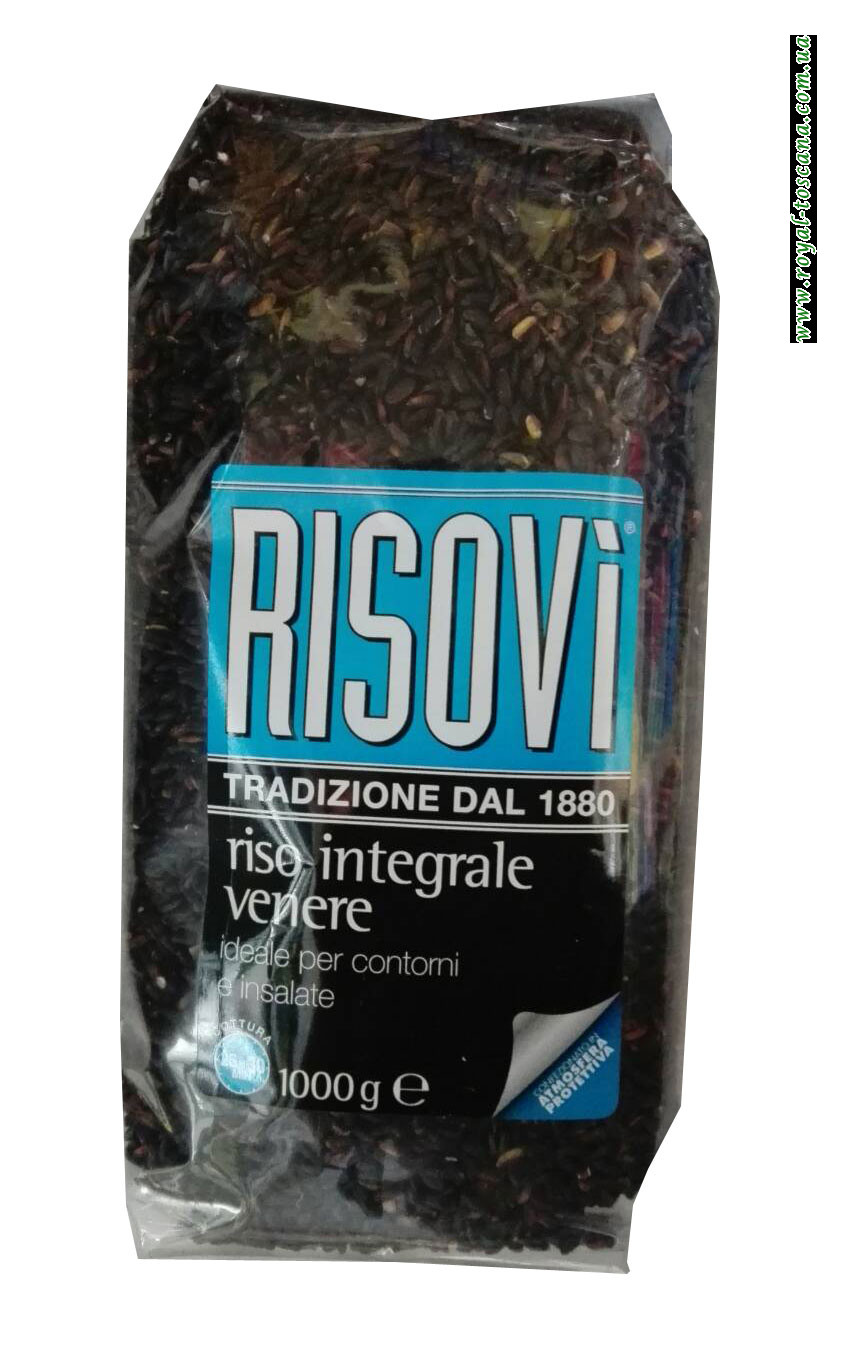 Нешлифованный черный рис Risovi Riso Integrale Venere