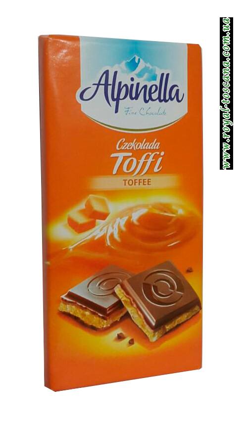 Шоколад молочный Alpinella Toffee