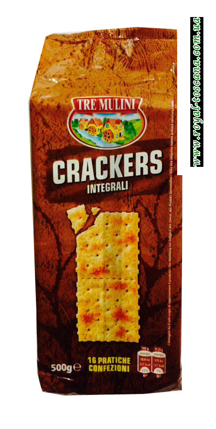 Крекер Tre Mulini Crackers Integrali