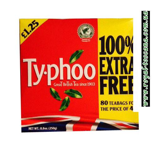 Чай черный Ty-phoo Great British Tea, 80 пак.