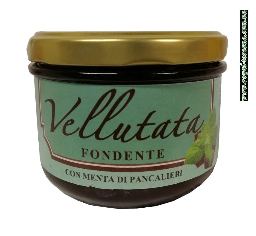 Шоколадный крем с мятой Vellutata Fondente Con Menta di Pancalieri