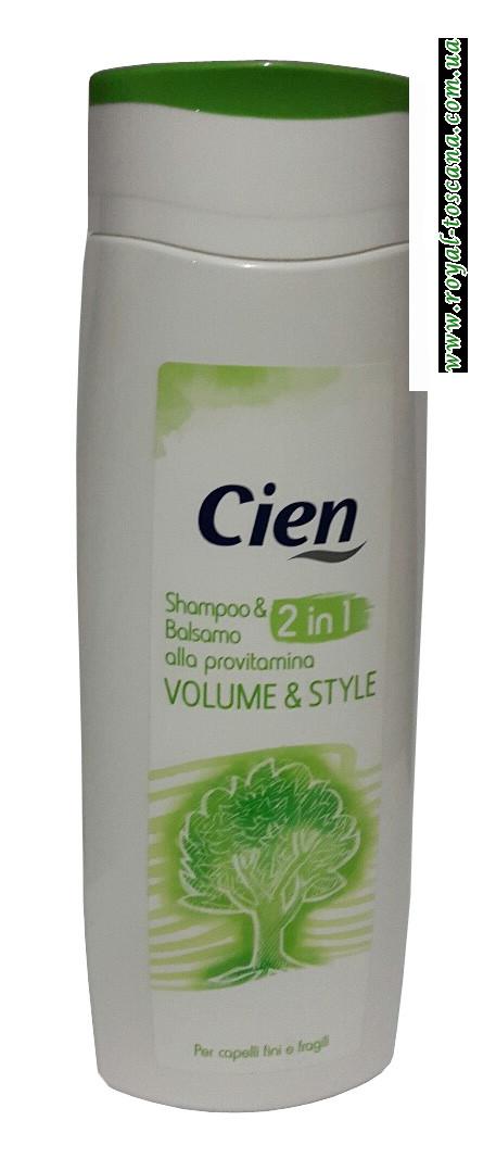 Шампунь-бальзам Cien 2in1 Volume & Style