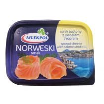 Сыр плавленый с лососем и укропом Mlekpol Norweski Smak, 150г