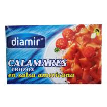Кальмар в соусе Американа Diamir Calamares trozos en salsa americana 110г