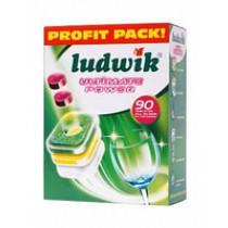 Таблетки для посудомоечных машин Ludwik Ultimate Power All in One, 90 шт
