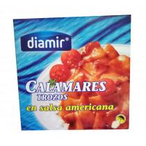 Кальмар в соусе Американа Diamir Calamares trozos en salsa americana 266г