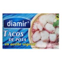 Осьминог кусочками в подсолнечном масле Diamir Tacos de Pota, 111 г.